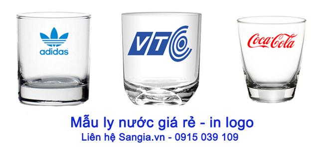 Những mẫu Ly giá rẻ in logo của SanGia VN