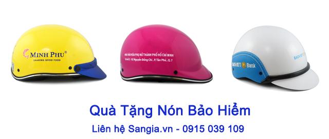 Hoạt động Sản xuất mũ bảo hiểm quảng cáo tại SanGia