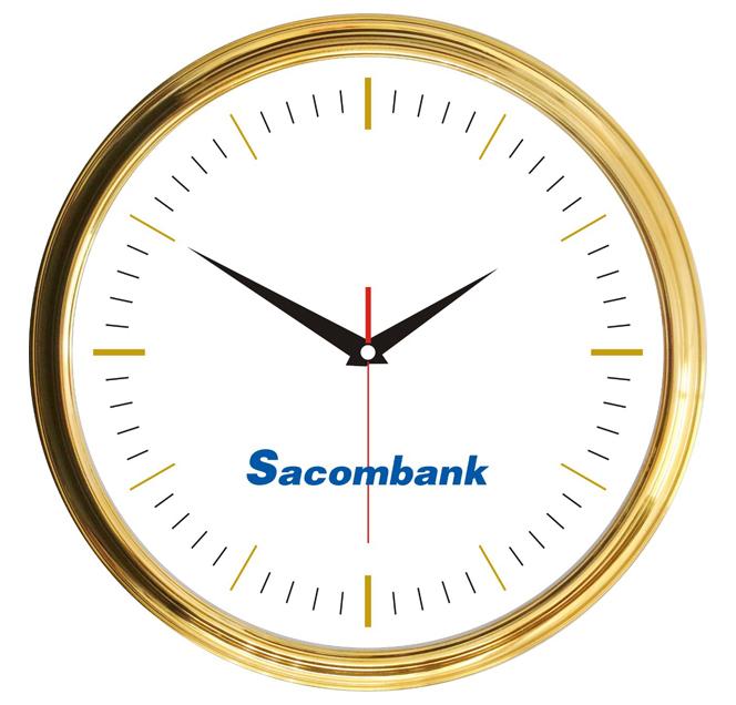 Review mẫu Đồng hồ Quảng cáo Sacombank