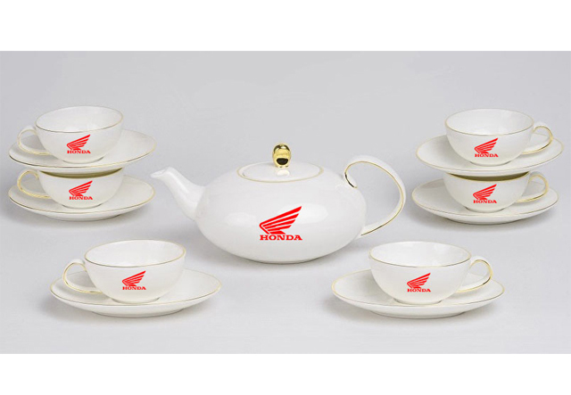 Bộ trà mạ vàng anna elip minh long