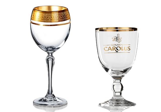 Ly rượu pha lê cao cấp mạ vàng
