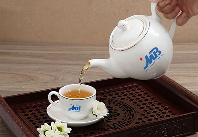 Bộ ấm trà cao cấp Mạ vàng