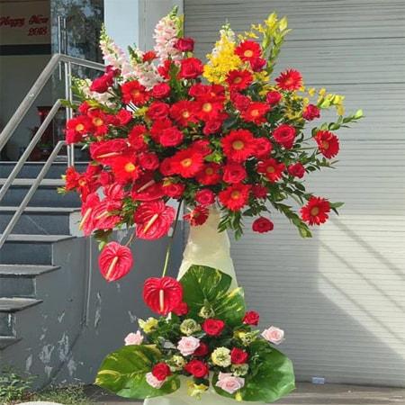 Hoa mừng nhà mới