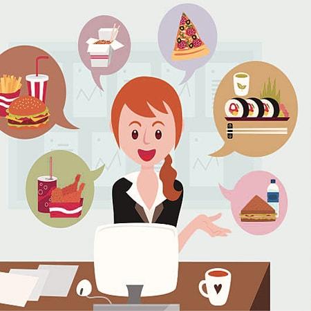 Đặt quà vặt online giúp dân văn phòng tiết kiệm được thời gian