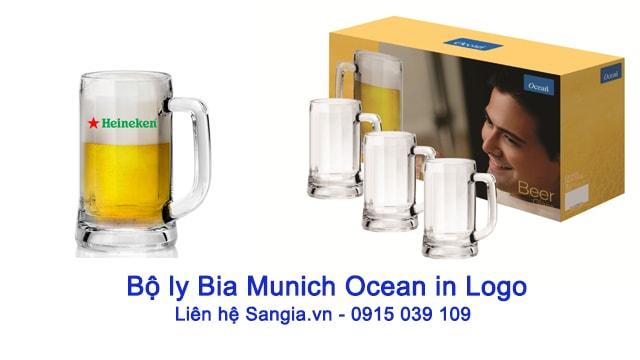 Bộ Ly bia Ocean In logo