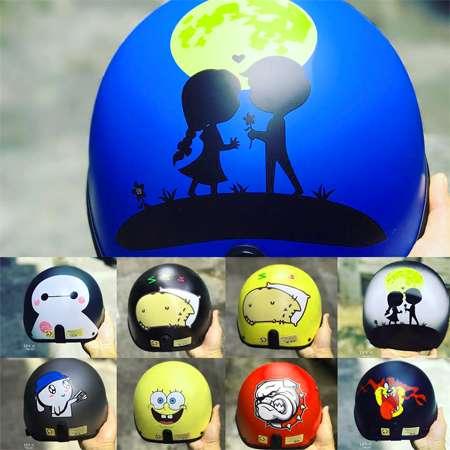Những mẫu vẽ lên nón bảo hiểm dễ thương