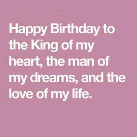 Lời chúc sinh nhật bằng tiếng anh cho Chồng