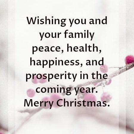 Lời chúc giáng sinh trong tiếng anh