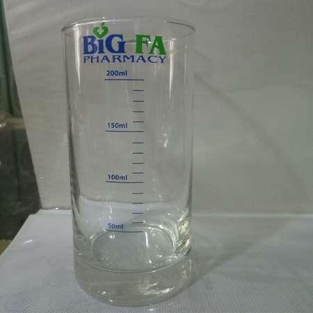 In vạch ml lên ly thủy tinh tại SanGia VN