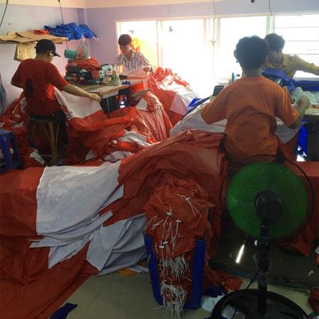 Xưởng may áo mưa quà tặng SanGia Vn