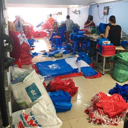 Xưởng sản xuất áo mưa SanGia VN