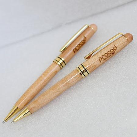 Bút gỗ khắc logo