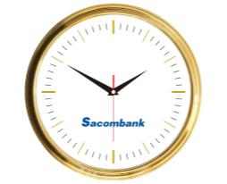 Đồng hồ treo tường mạ vàng