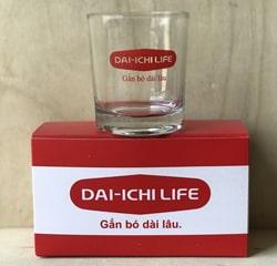 Bộ ly thủy tinh in logo là quà tặng