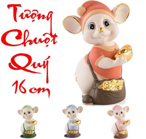 Tượng chuột Minh Long màu Matt