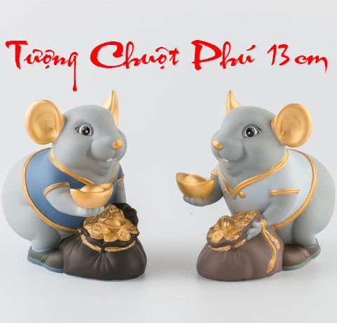 Tượng chuột Phú Quý Minh Long màu Matt