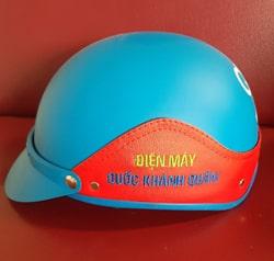 Thêu logo lên nón bảo hiểm